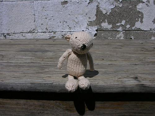 Henri the knitted bear