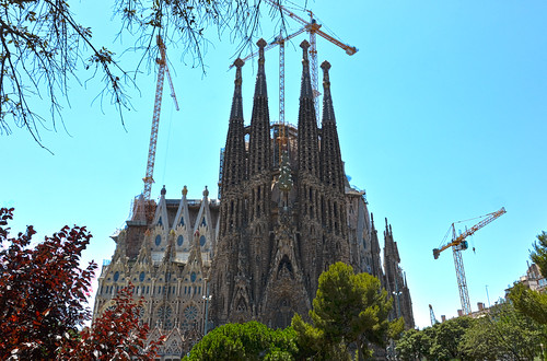 Gaudi's La Sagrada Familia, Barcelona, Spain