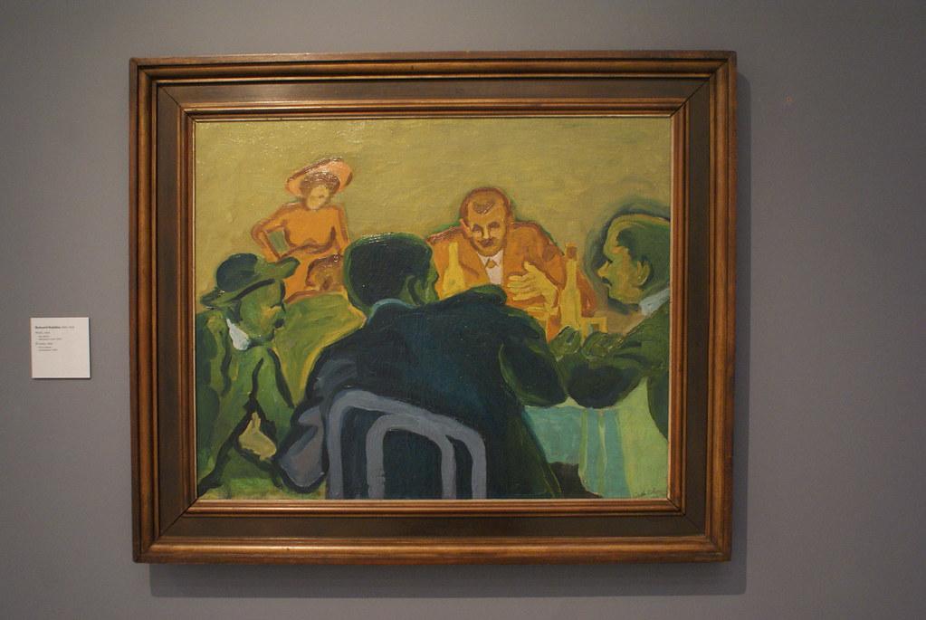 Tableau de Bohumil Kubišta au musée d'art moderne de Prague.