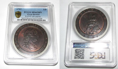 1797 GB 2P NGC MS62BN (mislabled as 1P)