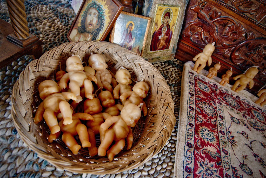 Wax Babies in Our Lady of Tsambika