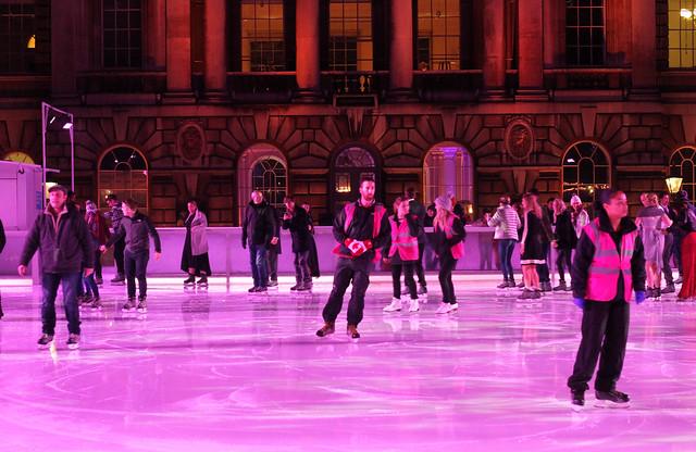 Skating at Somerset House London
