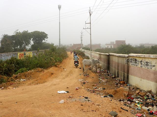 सीता सागर की जमीन पर बनी सड़क
