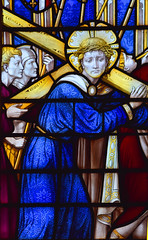 Christ carries his cross (detail, Ninian Comper, 1920)