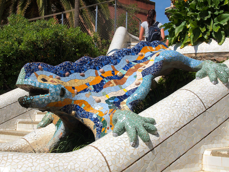 Salamander at Park Guell in Barcelona