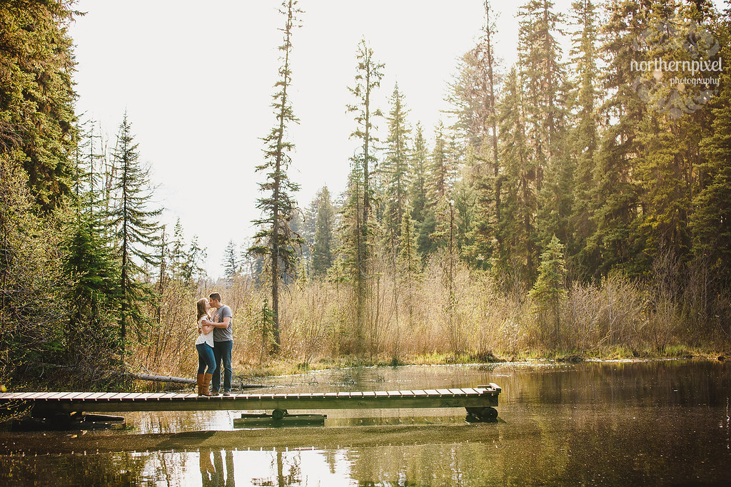 Lake Engagement Session - Prince George BC Wedding Photographers