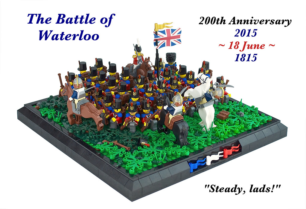The battle of waterloo steady lads 200 years ago today for Siege lego france