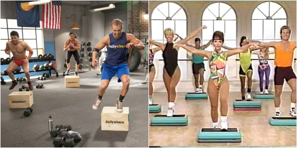 New crossfit box vs old step - funny but they both work