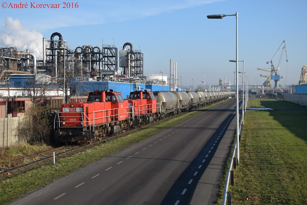 Db 6429 te rotterdam botlek op de aansluiting van ebs in for Ebs rotterdam