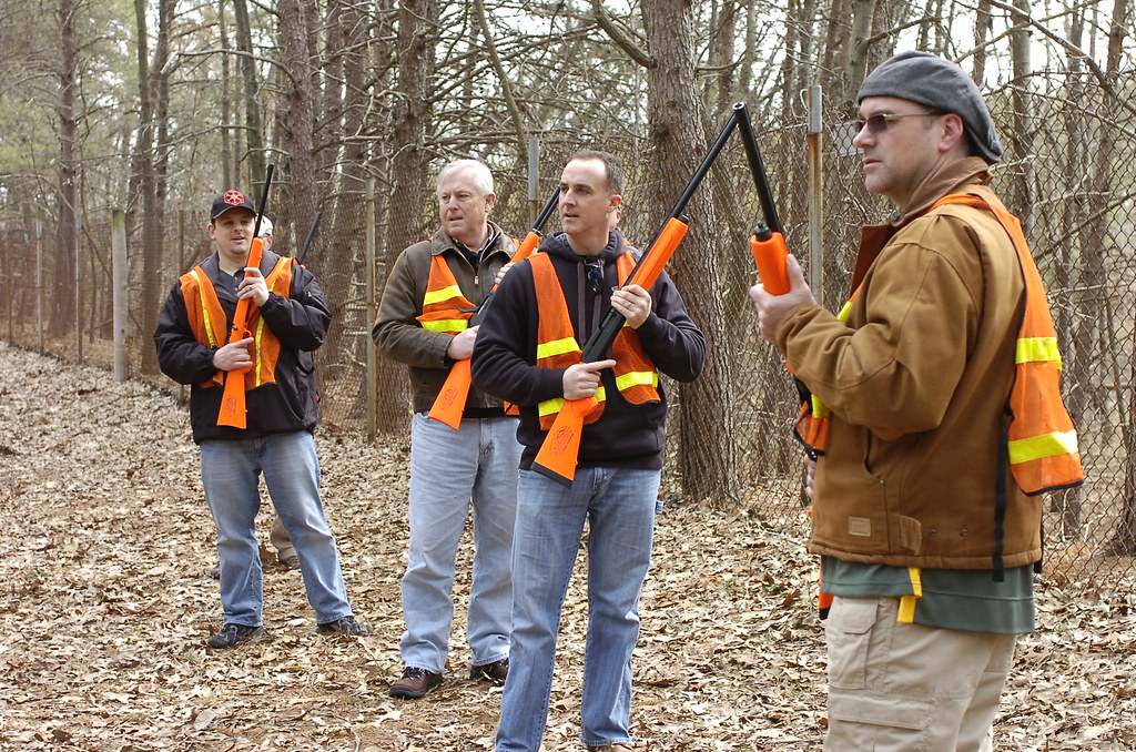 Photo of a hunter safety course