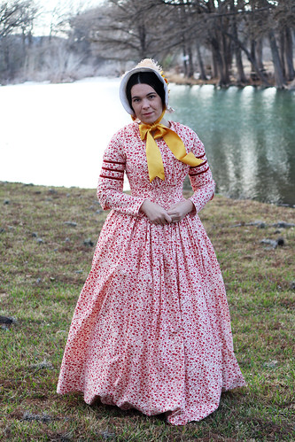 1840s Day Dress and Bonnet | by dixiediy