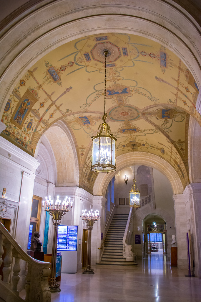 first floor hall - Cleveland Public Library