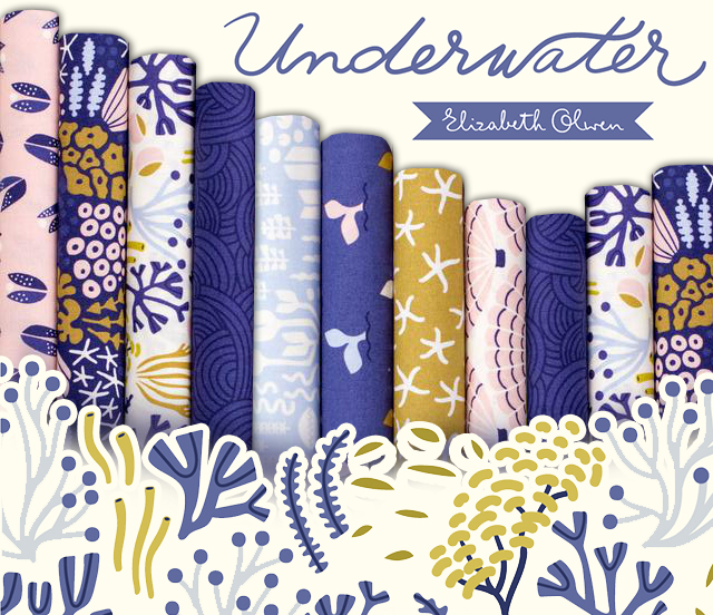 Cloud9 Fabrics Underwater Collection by Elizabeth Olwen