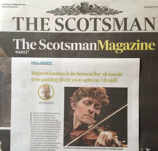 Tim Kliphuis Trio, The Scotsman, 04 February 2017