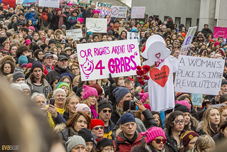 manif des femmes women's march montreal 06 | by Eva Blue