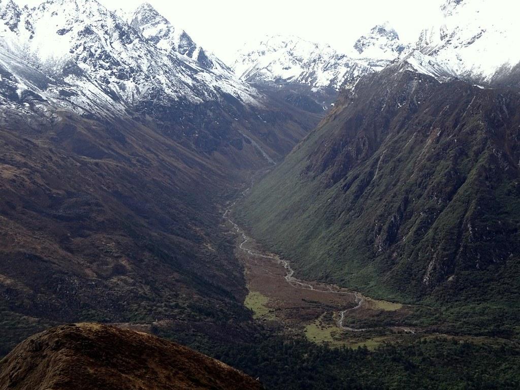 Η κοιλάδα που οδηγεί στο Khang La (5090μ),πιθανή είσοδο στο Sikkim της Ινδίας !