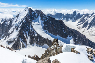 The Aiguille d'Argentière as seen from Arête Forbes | by Stewart Miller Photography