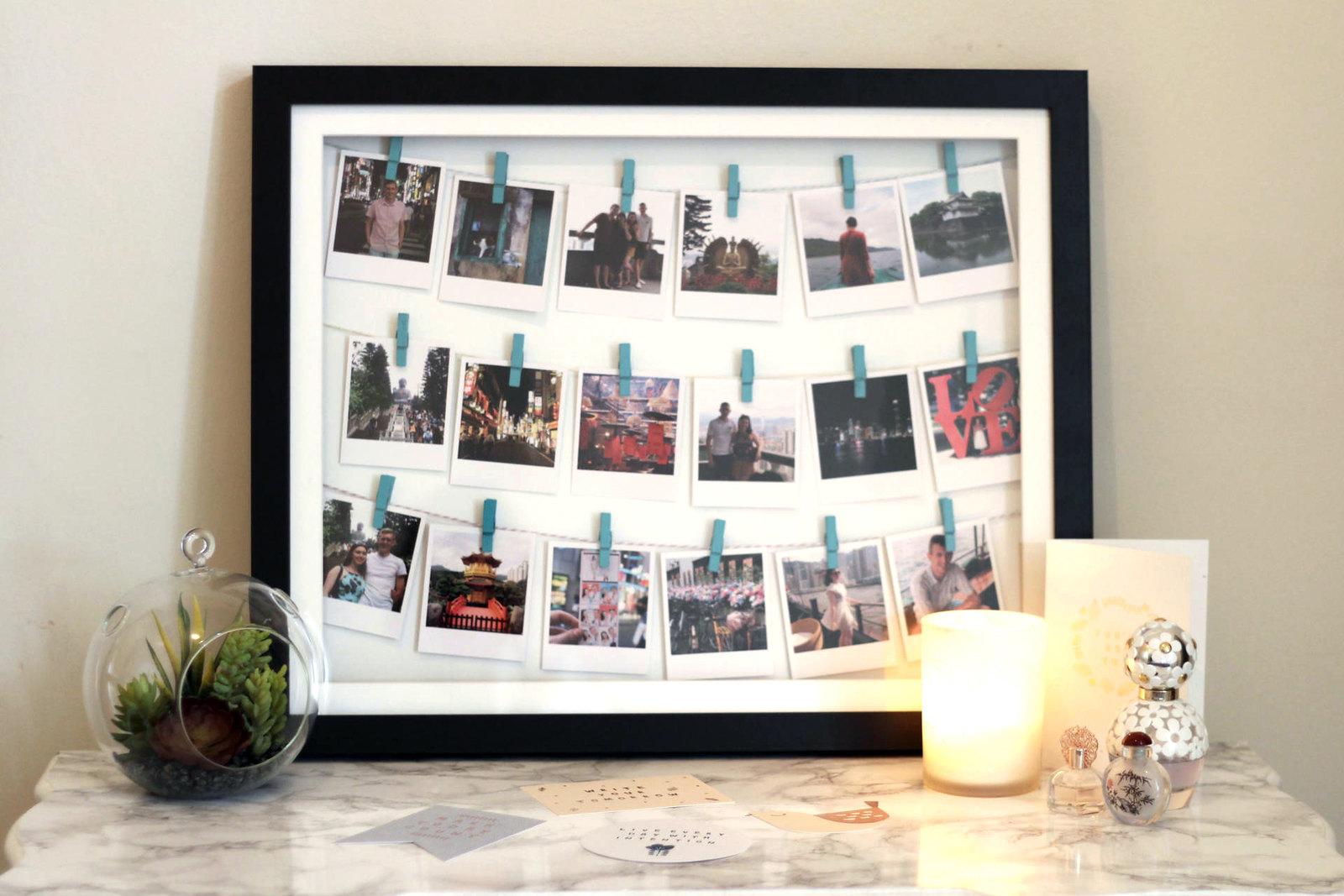 DIY Instagram Clothes Line Photo Frame