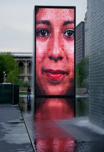 Crown Fountain in Millenium Park Chicago | by Donncha Ó Caoimh