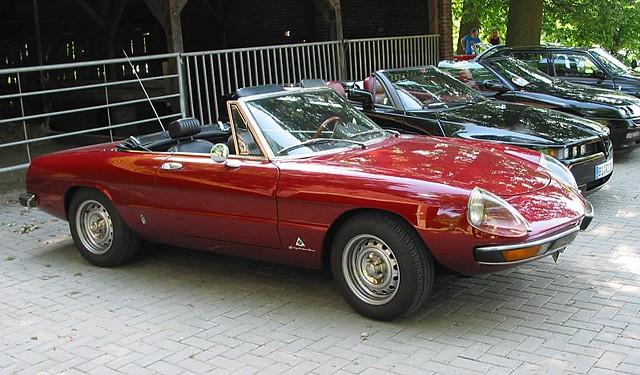 Alfa Romeo Spider Fastback In Dark Red Alfa Romeo Spider