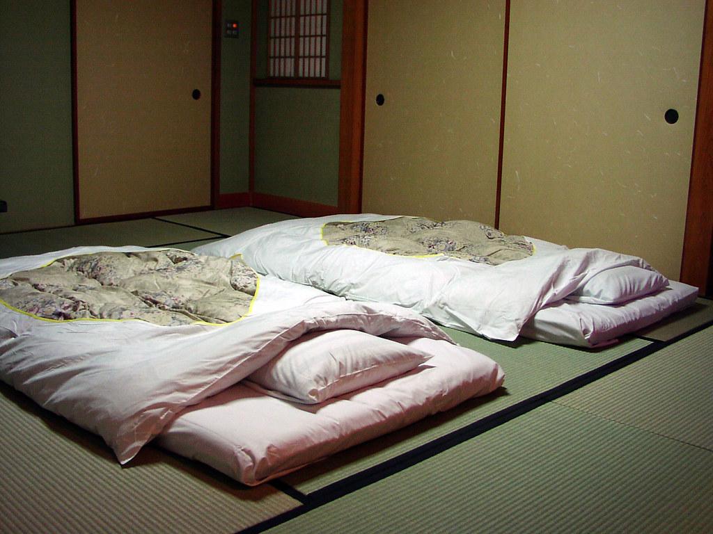 japanese mattress brand new tan traditional japanese floor. Black Bedroom Furniture Sets. Home Design Ideas