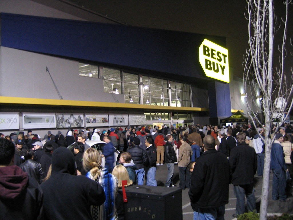 Xbox 360 Launch This Is The Bellevue Best Buy Near