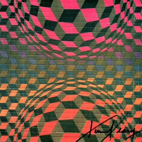 Op Art by Victor Vasarely,       signed by Timothy Leary | by guano