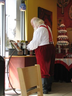 Santa at Starbucks | by Michael Casey