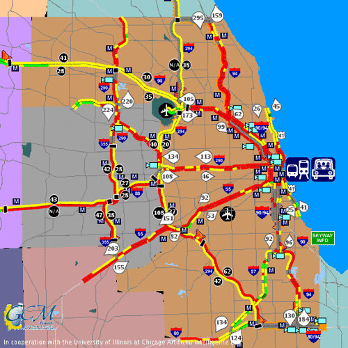 Chicago traffic map at 5:40 pm on December 8 2005 | WOW   th… | Flickr