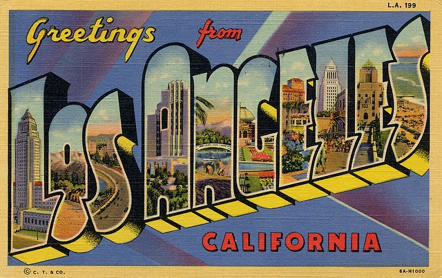 Old Los Angeles Postcards Flickr