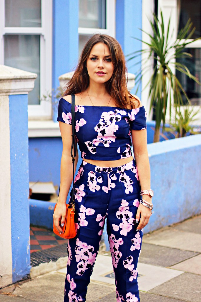 Missguided purple floral two piece the little magpie 4