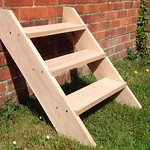 Timber Framer - Shepherd hut steps