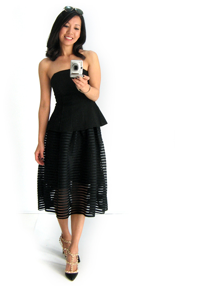 Chicwish Skirt and Fashion Bunker Top