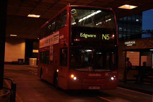 Metroline TE838 on Route N5, Euston