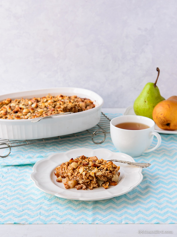 Baked Oatmeal With Roasted Pears Recipes — Dishmaps