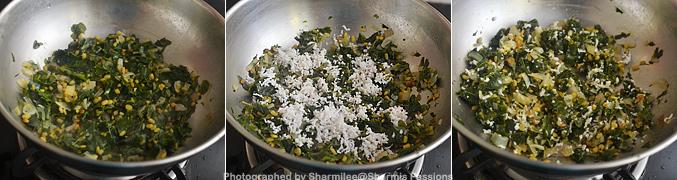 How to make Murungai Keerai Poriyal - Step4