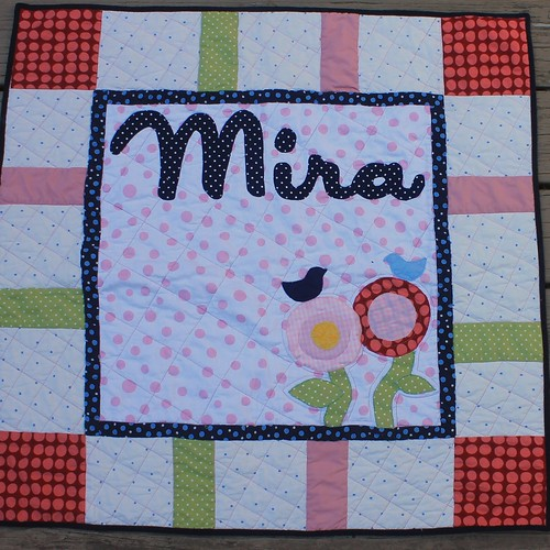 Mira Baby Flower Name Quilt | by DanaK~WaterPenny