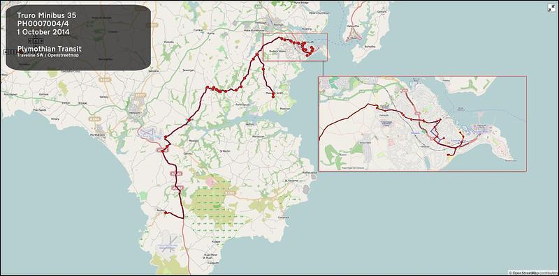 2014 10 01 SP Bawden Truro Minibus Route-035 MAP.jpg