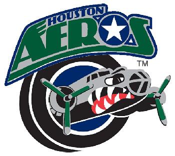Aeros bomber blue logo