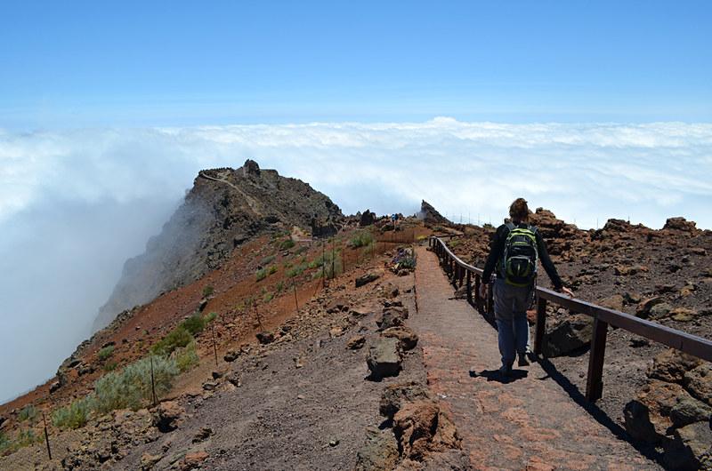 Walking at Roque de los Muchachos, La Palma, Canary Islands