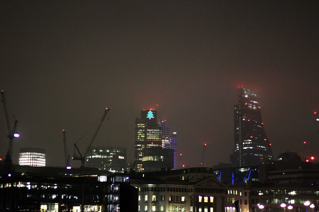 Foggy London evening