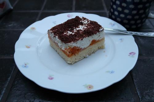 Quark-Sahne-Mandarinchen-Kuchen (bei Kaffeepause auf Baustelle)