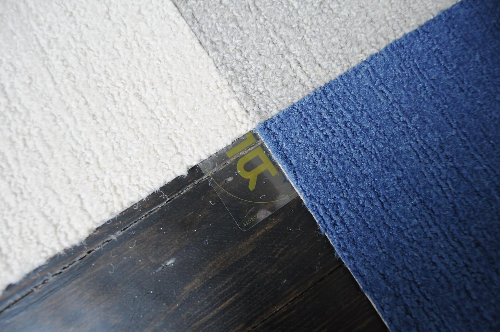 Buffalo Plaid Floor Using Carpet Tiles – Go Haus Go – A DIY and ...