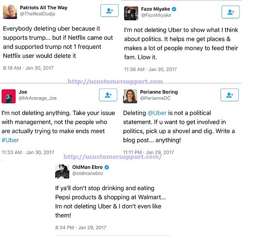 DeleteUber Trump Ban