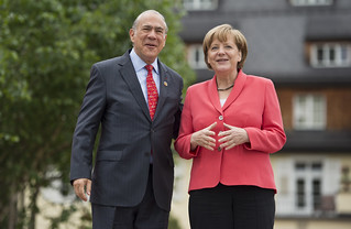 Angel Gurría, Secretary-General of the OECD, at the G7 Summit in Schloss Elmau
