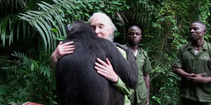 Jane Goodall Saying Goodbye