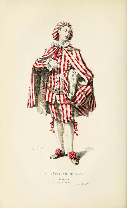 002-La vejacion amorosa -Oeuvres completes ornee de portraits en pied colories…1871- Moliere