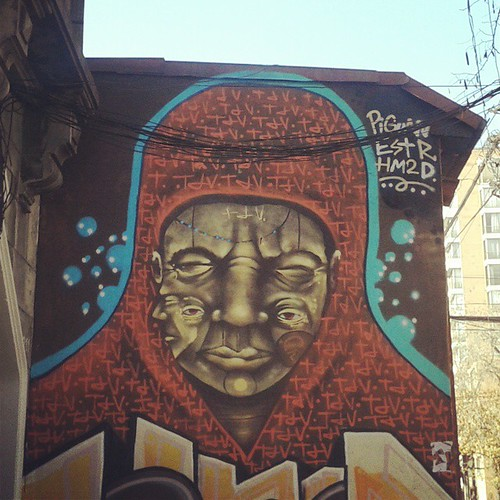 Mural street art urban urbanart graffiti instagraffi for Carpenter papel mural santiago chile
