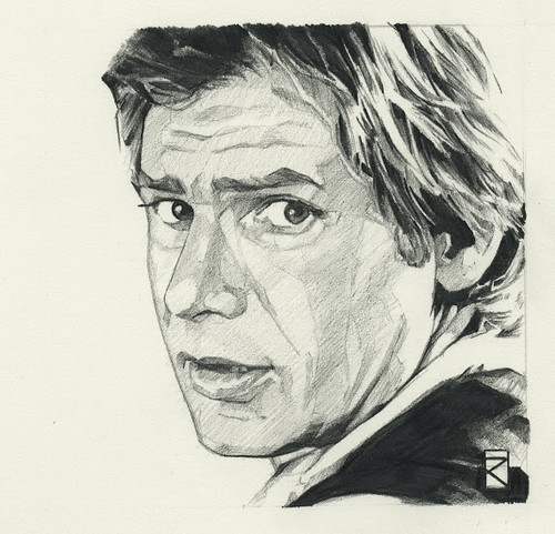 Star Wars illustrations by Russell Walks - Han Solo