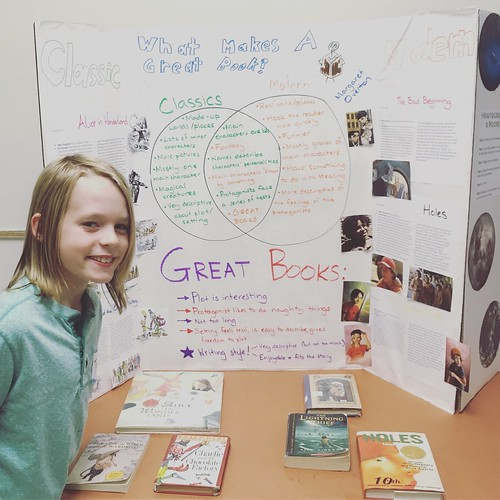 Tobin & Margaret (not pictured) presented their Great Books project last night to all Tobin's classmates & their families.